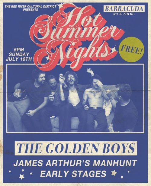the early stages the golden boys james arthurs manhunt july 16 2017 barracuda austin poster